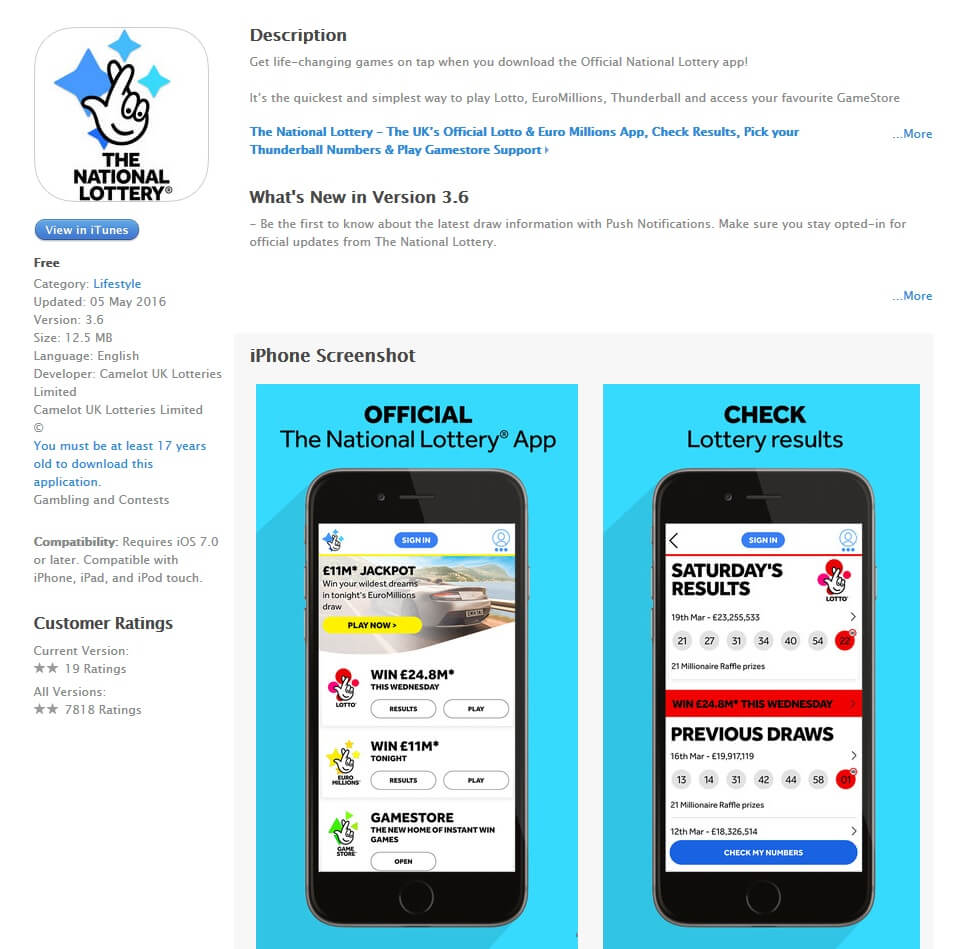 National Lottery App
