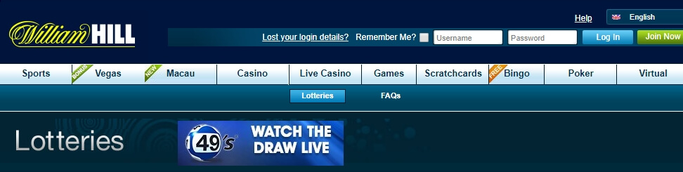 William Hill Lotto Website