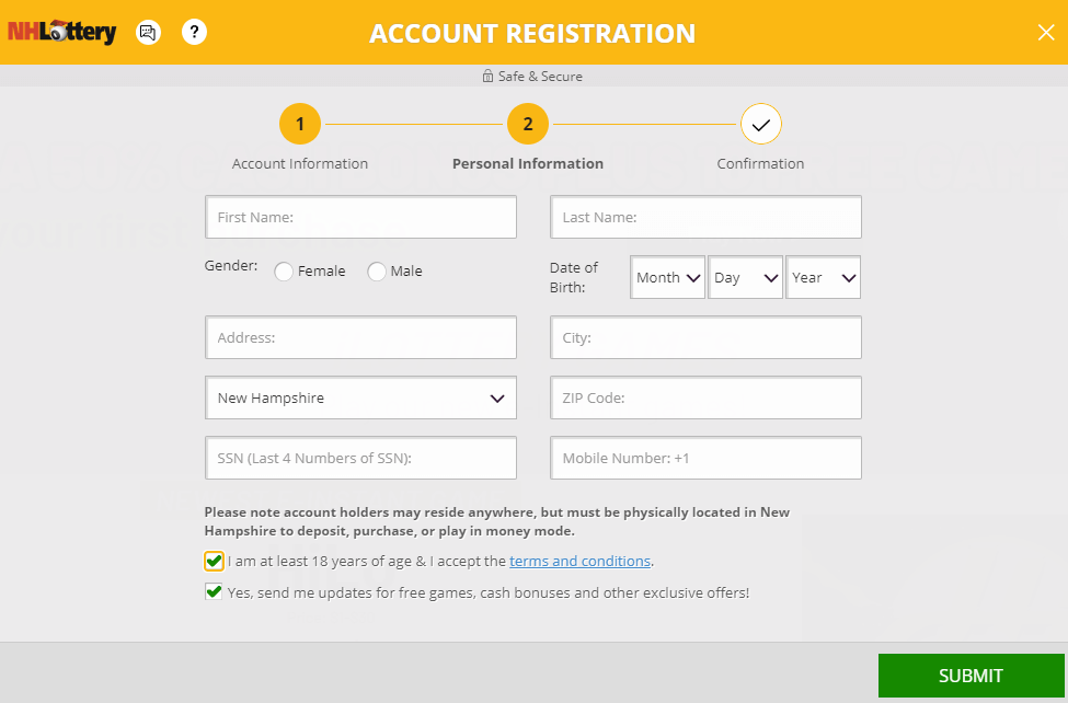 NH Lottery Registration