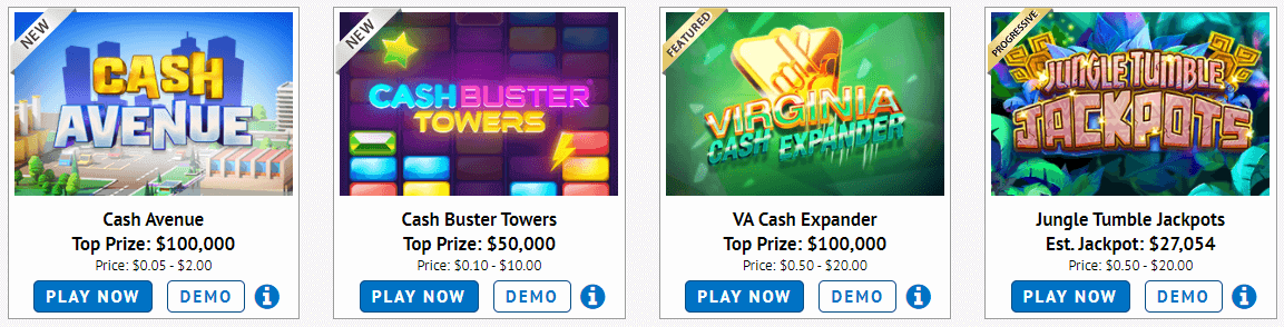Virginia Lottery Games